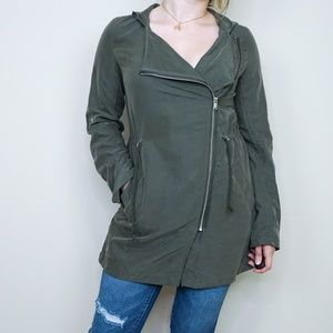 H&M Military Green Hooded Parka Jacket 61